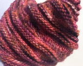Reduced Mulitcolored Knit Cowl Rose Mauve Burgundy