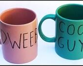 Adventure Time Card Wars DWEEB & COOL GUY  Pair of Mugs