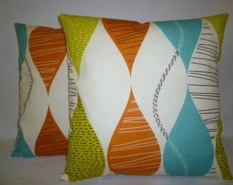 "PAIR Orange Pillow Cushion Covers 4 CHOICES Mix Match Designer Throw Shams Slips Scatter PAIR 16"" (40cm)"