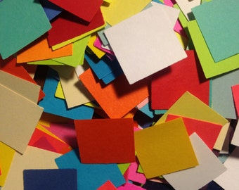 Cardstock Squares (1 inch) --- Assorted Colors  --  75 pieces   (#290) Die Cuts