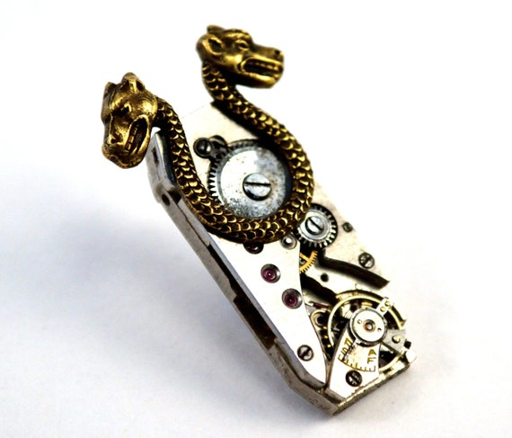 Steampunk Pin, Tie Tack, Lapel Pin