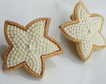 Starfish earrings, Vintage wedding jewelry, starfish, costume jewelry, vintage starfish earrings, beach jewelry