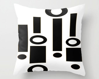 Modern  Pillow Cover, Modern White Pillow Cover, Mod Pillow Cover, Retro  Pillow Cover, Black & White Pillow Cover