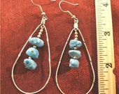 SALE - Girlfriend Gift, Daughter, Friend, Gift for Her - Turquoise Jewelry Silver Turquoise Earrings - ER59
