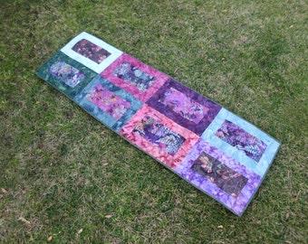 Batik frames table runner