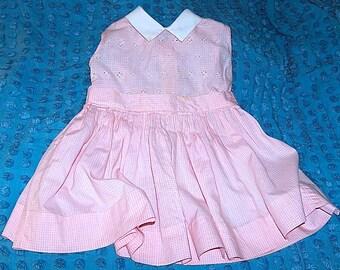 1950 Youngland Toddler Pink Gingham Dress