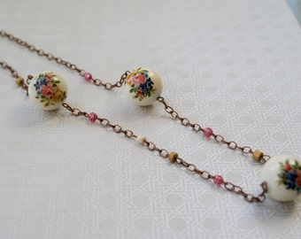 Flower Ball Necklace