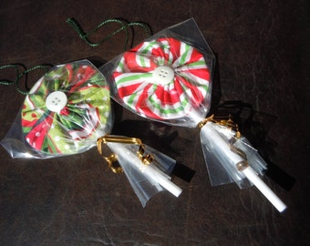 DIY Kit - Christmas Lollipop Ornaments for tree or packages