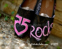 R5 Themed Custom Glitter TOMS Shoes - Adult TOMS
