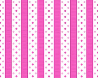 Sausalito Cottage - Dotted Stripe in Raspberry by Holly Holderman for Lakehouse Drygoods