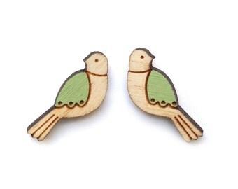 Green Bird Earrings
