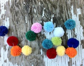 Yarn PomPom Garland |  Multi-Color Pompom Garland | Pompoms | Handmade | Party Decor | PomPom Banner | Buntings | Photo Props | Custom Pom