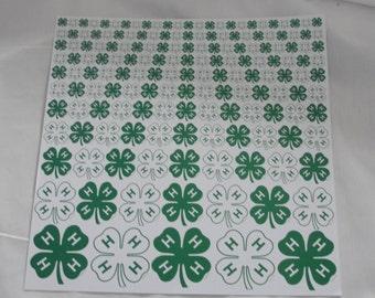 4-H 12x12 Clover acid free paper