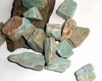 Raw Mozambique Amazonite Gemstone Rough Natural Stone Specimen earthegy #1193