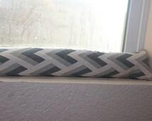 Door Draft Stopper Window Door snake  Grey Natural Premier Prints.