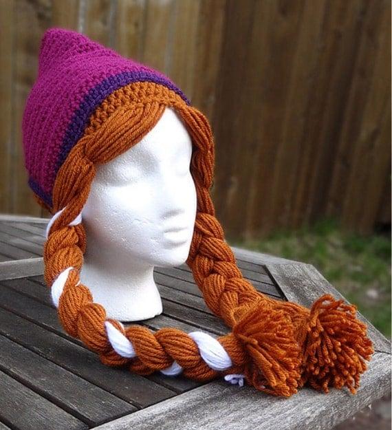 Knitting Pattern For Frozen Hat : Anna Frozen crochet hat