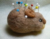 Needle Felted Bunny Rabbit Pincushion, Fun with Fiber