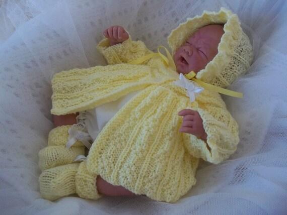 Baby Knitting Pattern - PDF Knitting Pattern -  Download Early Baby or Reborn Dolls Knitting Pattern  Evie by Precious Newborn Knits