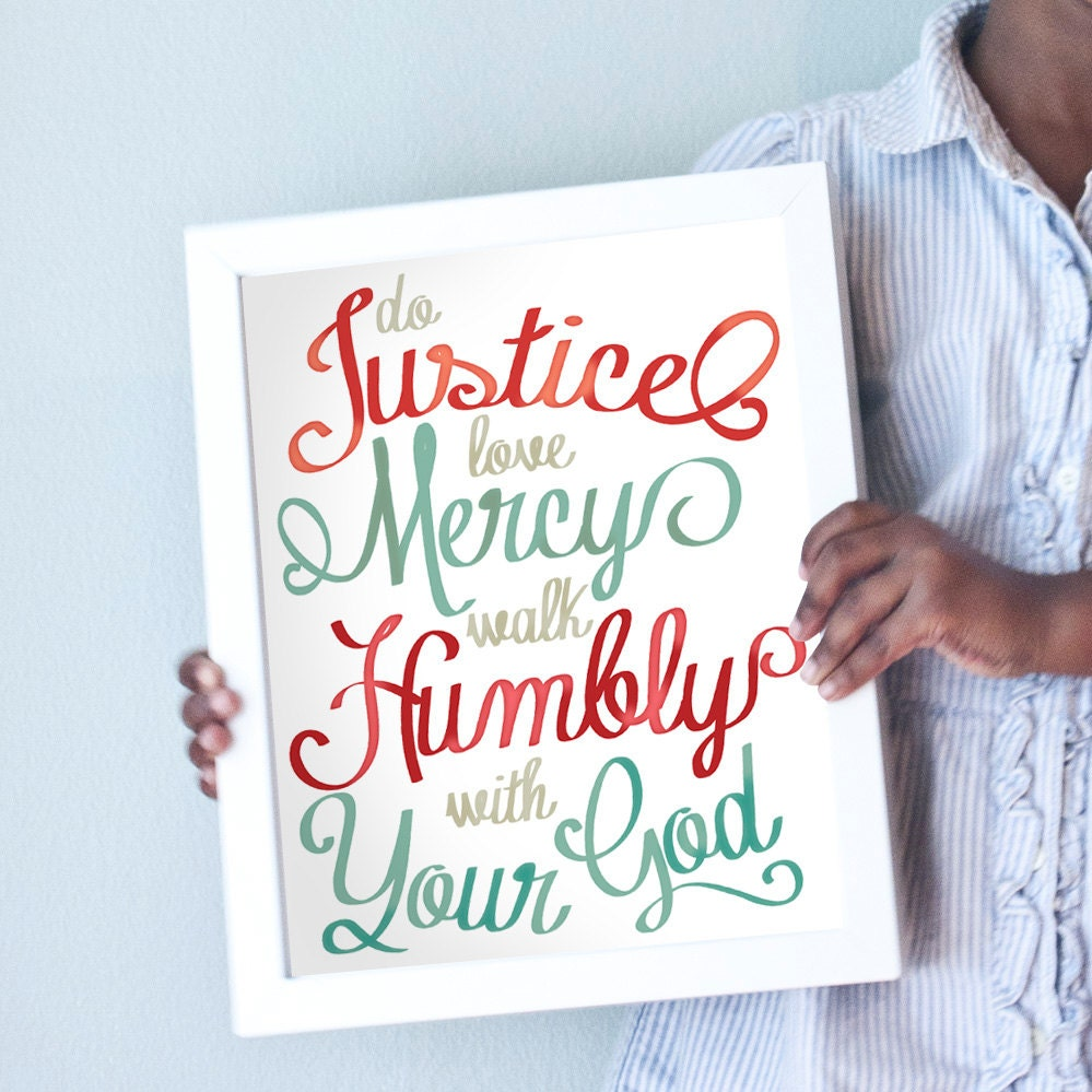 Printable 11x14 Do Justice in red