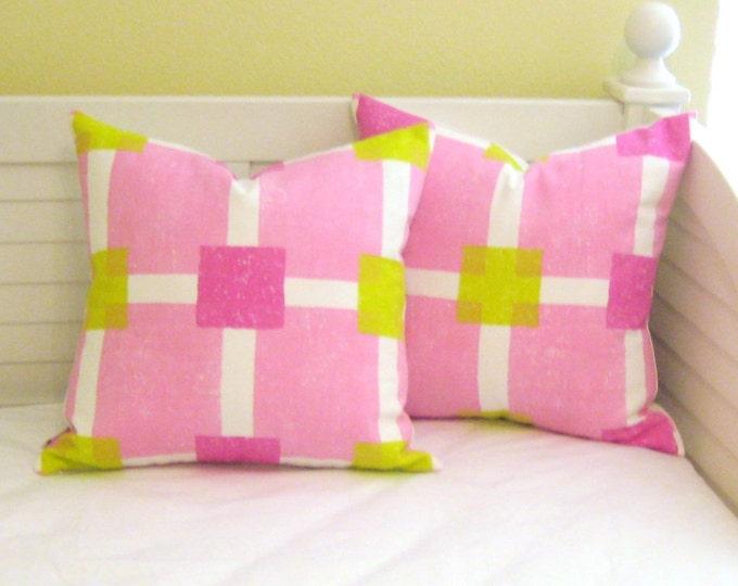 FLASH SALE - Pair of Designer's Guild Boutique Designer Pillow Covers 18x18