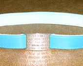 Leather Custom Tag Collar for Greyhounds - Deep Turquoise