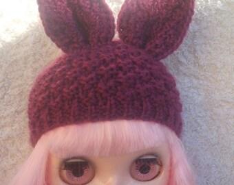 Blythe bunny beanie.