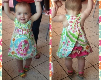 Swing Back Top with matching ruffle bloomers
