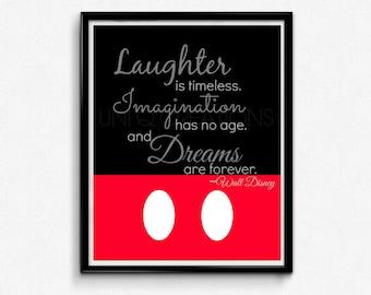 Walt Disney Quote Print, Digital Art, Wall Art, 8x10 Print, INSTANT DOWNLOAD