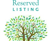 Reserved  listing for Carly & Daniel