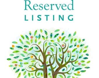 Reserved  listing for Shawnna & Yonatan