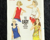 Vintage Pattern Butterick 5687 1960's Misses Sleeveless Blouse Pattern Size 14