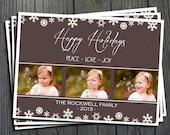 Photo Christmas Card - Printable Holiday Card