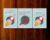 Printable  Valentine  cards -  rocket out  of  this  world