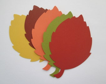 50 Large Fall Leaves die cuts