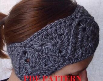 PDF PATTERN - Crochet headband headwrap
