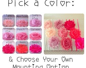 Shabby Chiffon Flower Headband | Hair Clip {Newborn Baby Toddler Girl Adult} Boho Chic Rose + Shower Gift + Alligator Clippies + Barrette