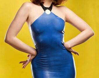 Betty Rubble Flintstones Inspired Rubber Latex Dress