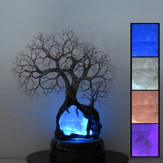 Wire Tree Of Life Sculpture Natural Brazil Quartz By