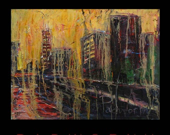 SOLD - Building Original Oil Painting Arts NYC NY Art New York Landscape Cityscape