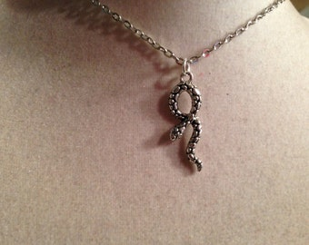 Snake Necklace - Silver Jewelry - Pendant Jewellery - Chain - Fashion - Kitsch - Hipster - Asp - Goth