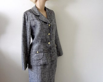 Vintage 1960s Suit - skirt and jacket - mad men office attire
