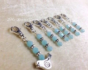 Removable Stitch Markers- Bird Stitch Marker Set- Knit and Crochet Markers- Gift- Clip On Marker