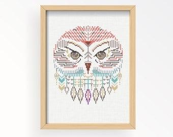Tutorial OWL WILD/ motif de Point de Croix .pdf / téléchargement immédiat