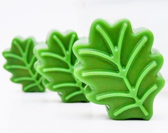 LEAF SOAP - leaves, gift, shea butter, mango butter, cocoa butter, natural, handmade, glycerin, vegan