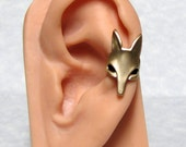Fox Head Ear Cuff ' left ear '