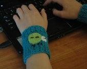HYDROCHLORIC ACID HCl Nerdy Chemistry Applique Wrist Warmer Cute Hand Knitted Chemistry Element Acessory Wool Winter Wear