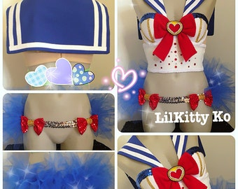 SAILOR MOON Bustier and Tutu skirt - Made to Order