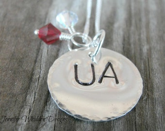 Alabama Necklace - University of Alabama Necklace  - College Necklace - SEC Football - Game Day - University of Alabama Necklace