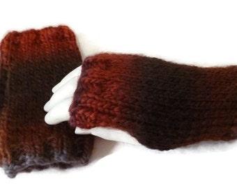 Womens Fingerless Gloves, Wool Knit Gloves, Winter Fingerless Gloves