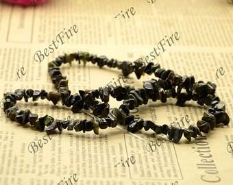 21inch Charming Black tourmaline nugget beads,Nugget tourmaline stone beads,gemstone beads loose beads
